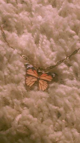 Vintage butterfly Schmetterling Kette Halskette Schmuck