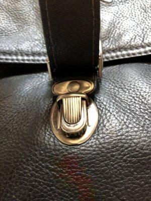 VINTAGE - CAMEL Bag / Schultertasche / Echt-Leder / schwarz / viele Fächer