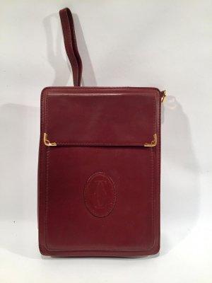 Vintage Cartier Clutch - Handgelenkstasche aus Leder