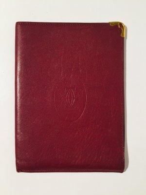 Vintage Cartier Reisepass-Etui aus Leder - bordeaux
