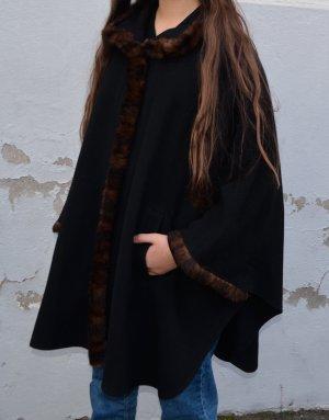 vintage Cashmere Woll Mantel cape XS/S/M/L/XL