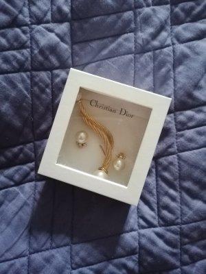 Christian Dior Pareloorbellen wit-goud