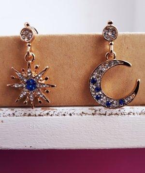 Vintage Dangle gold-colored-blue