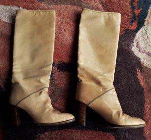 Celine High Heel Boots sand brown leather