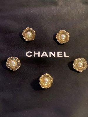 Chanel Bouton blanc-doré