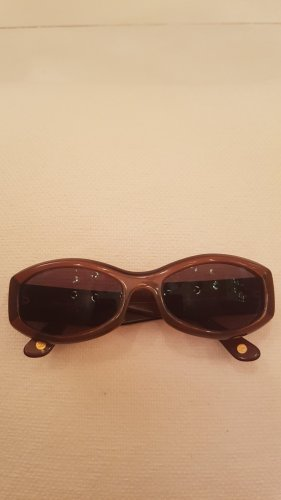 Chanel Oval Sunglasses gold-colored-brown