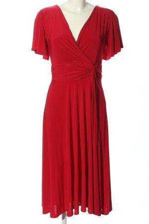 Vintage Chic Vestido de tela de jersey rojo look casual