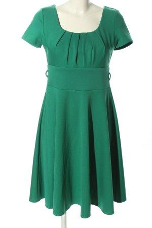 Vintage Chic Stretchkleid grün Business-Look