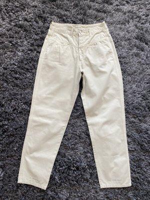 Closed Pantalon boyfriend beige clair-gris vert
