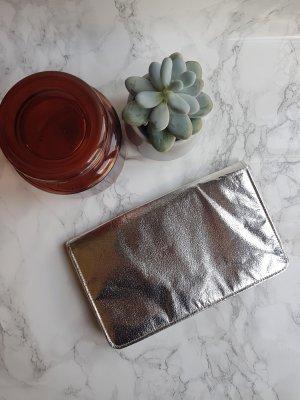 Vintage Clutch Handtasche silber