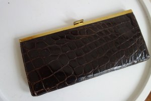 Vintage Clutch mit Croco Leder und Verschluss