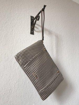 Vintage Clutch von Axel mit schwarz-weißem Muster