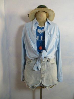 Vintage Collegio Favori slouchy weich oversize Jersey Hemd Size L Babyblau Overshirt Kleid Sommer