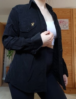 Vintage Cord-Jacke schwarz