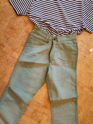 Vintage Pantalón de pana verde grisáceo