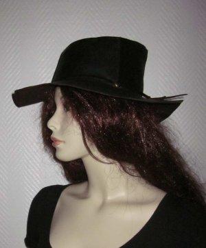 Vintage Cowboyhut Cowgirl Hut echtes Rindsleder Leder One Size S M L hochwertig