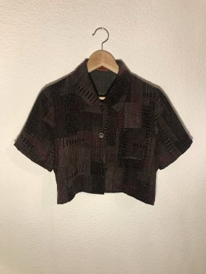 Camisa de manga corta negro-marrón