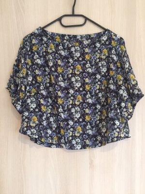 Vintage cropped shirt mit Blumenmuster