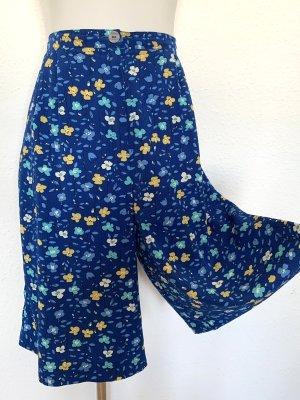 Vintage Falda pantalón de pernera ancha multicolor
