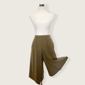 Vintage Falda pantalón de pernera ancha marrón claro-marrón arena