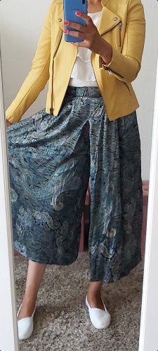 Vintage Falda pantalón de pernera ancha azul oscuro