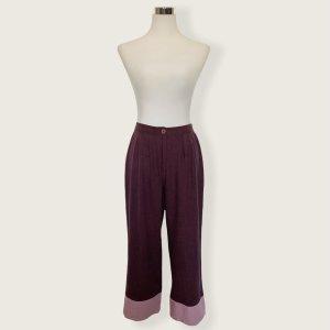 Vintage Culottes brown violet-pink