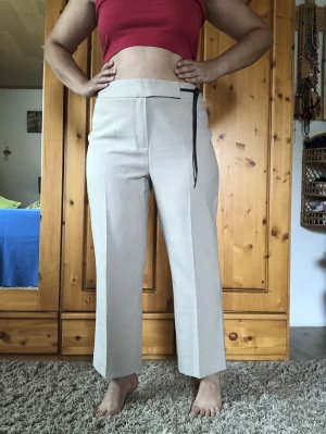 Vintage Culotte Stoffhose Straight Cropped High Waist Gr.40