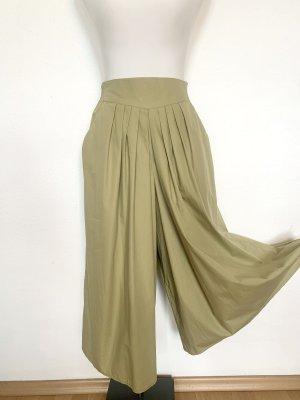 Vintage Falda pantalón de pernera ancha verde pálido-verde grisáceo