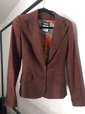 Dolce & Gabbana Blazer smoking marrone