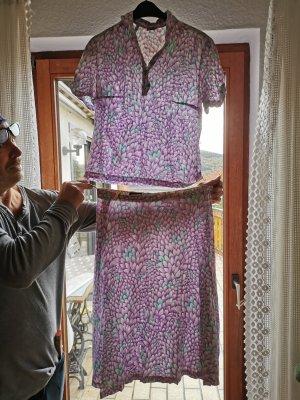vintage Damen Anzug shirt und Rock, ca. Größe 44