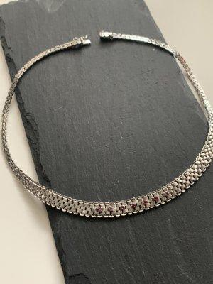 Vintage Damen Collier in 835 Silber mit Rubin Steinen