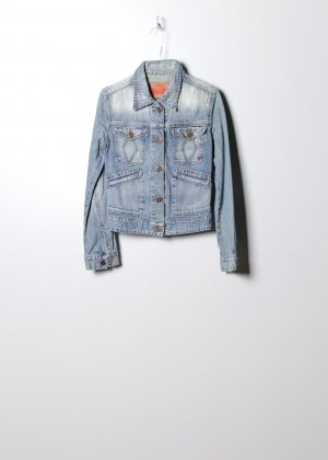 Vintage Damen Denim Jacke in Blau