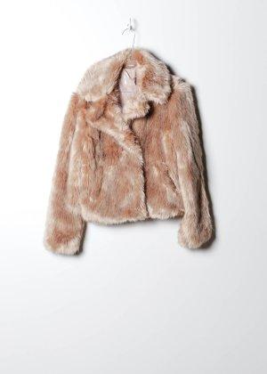 Vintage Damen Fake Fur Jacke in Rosa