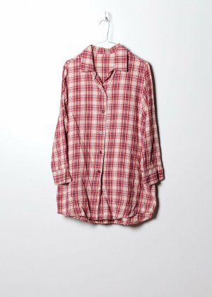 Vintage Damen Flanellhemd in Rot