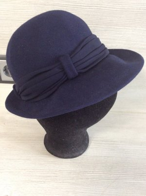 Vintage Damen Hut  Gr 54 blau
