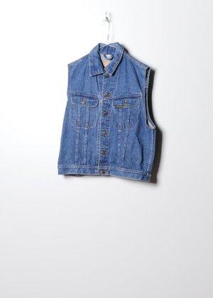 Vintage Damen Jeanshemd in Blau