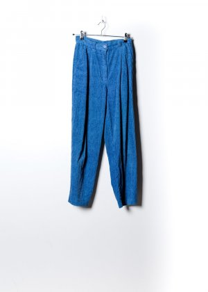 Vintage Damen Kordhose in Blau