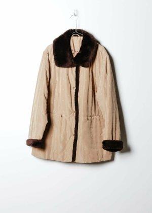 Vintage Damen Mantel in Beige