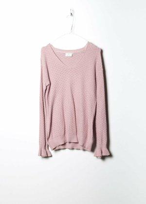 Kaffe Maglione lavorato a maglia rosa Cotone