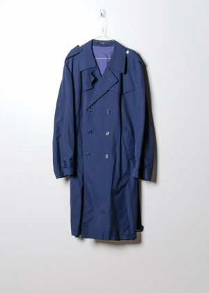 Vintage Damen Trenchcoat in Blau