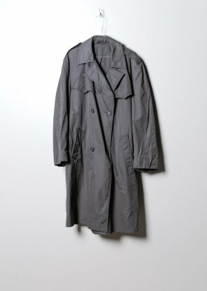Vintage Damen Trenchcoat in Grau