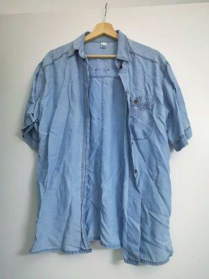 Vintage Jeansowa koszula niebieski
