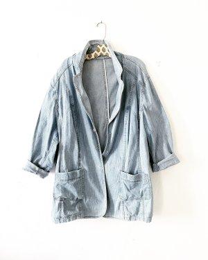Vintage • denim kurzmantel • jeansjacke • hellblau •
