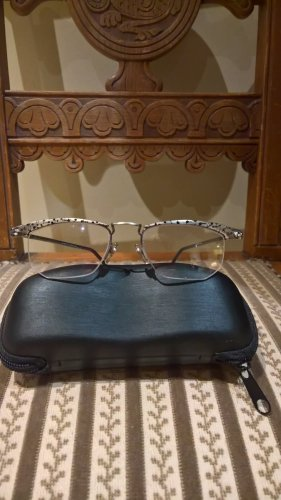 Glasses silver-colored-black metal