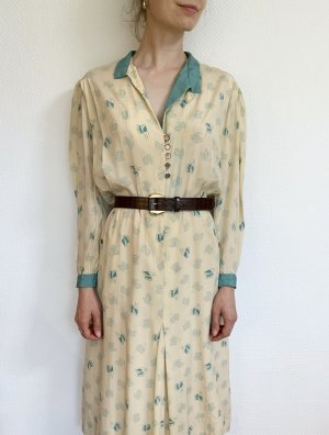 """Vintage Designerkleid """"Diavolo Rosa""""/ Midikleid mit Retromuster und Taschen"""