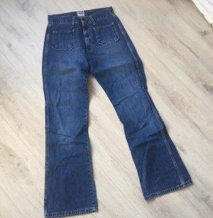 Diesel Jeansy z prostymi nogawkami niebieski