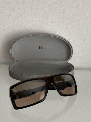 Dior Kwadratowe okulary przeciwsłoneczne czarny-srebrny