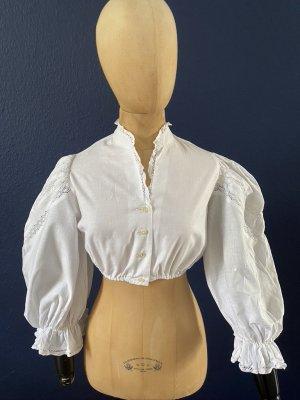 Blusa folclórica blanco Algodón