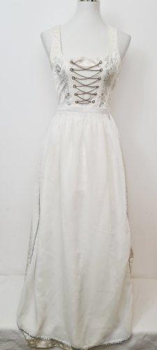 Vintage Dirndl Brautkleid / Größe 38 / Weiß