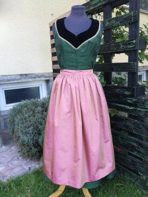 Dirndl leśna zieleń-różowy neonowy